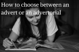 Magazines: adverts vs. advertorials