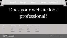 Does your website look professional?