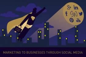 Marketing to businesses through social media