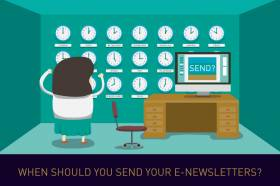 When should you send your e-newsletters?