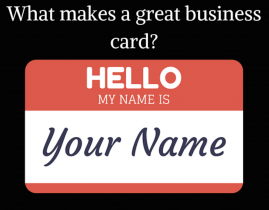 What makes a great business card?